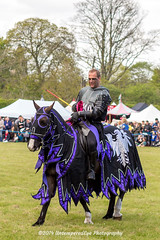 [2014-04-19@13.14.08a] (Untempered Photography) Tags: horse history animal costume medieval knight joust armour reenactment jousting combatant chainmail lists canonef50mmf14 perioddress theknightsofthedamned mailarmour untemperedeye canoneos5dmkiii untemperedeyephotography glastonburymedievalfayre2014