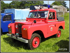 Land Rover Fire Engine.   1963 (Alan B Thompson) Tags: 2014 suffolk eastanglia olympus sp590uz woolpit picassa