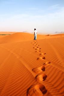 You walk alone