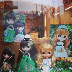 Posing in front of store. Pics were not allowed inside. :( #blythedoll #juniemoon with @blytheinjapan