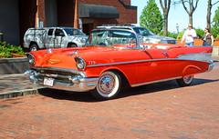 IMG_9249 (kz1000ps) Tags: orange classic chevrolet car boston architecture vintage construction realestate antique massachusetts air convertible chevy 1957 vehicle bel development