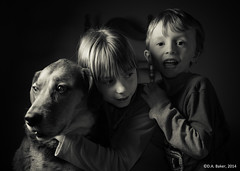 (D A Baker) Tags: portrait dog pet dan kids children hug baker sister brother daniel canine siblings da hugs doggy danielbaker danielabaker