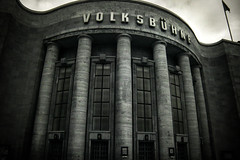 Volksbhne (erglis_m (Mick)) Tags: old blackandwhite bw berlin monochrome contrast canon ir blackwhite interesting oldbuildings canoneos20d infrared volksbhne infraredfilter volksbhnetheatre germanarchictecture
