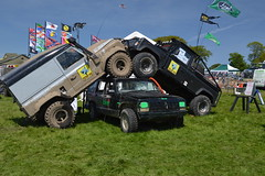 Anti Jeep goings on. (Draco2008) Tags: jeep 4x4 ripley cherokee landrover northyorkshire jeepcherokee defender ripleycastle offroadevent landroverspringadventure antijeep