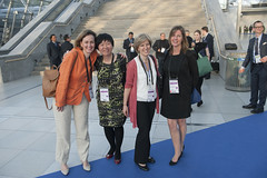 Mary Crass, Xumei Chang, Elizabeth Van Hulst and Jo Dempsey posing for a picture