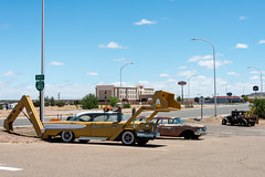 Historic Route 66 - Route 66 Auto Museum at Santa Rosa, New Mexico (MikePScott) Tags: road street camera usa newmexico car lens highway boulevard unitedstates motorway transport edsel freeway avenue santarosa builtenvironment historicroute66 nikond800 nikon28300mmf3556 featureslandmarks