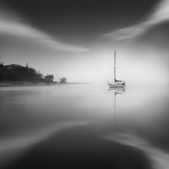 Emulate - Glenorchy, New Zealand. (Luke Austin) Tags: newzealand blackandwhite yacht glenorchy lukeaustin