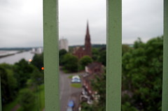 Behind Bars (Beth Sager) Tags: bridge church runcorn silverjubileebridge
