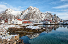Crystal Clear Svinya (Kristin Repsher) Tags: winter norway reflections nikon fjord lofoten arcticcircle svolvaer svolvr lofotenislands svinya northernnorway d700