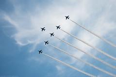 top of team (gemapozo) Tags: sky japan airplane tokyo nikon 日本 神宮外苑 d800 jsdf 新宿区 blueimpulse 東京都 jasdf 80400mmf4556dvr jingugaien ブルーインパルス aiafvrzoomnikkor80400mmf4556ded