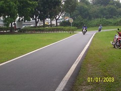 Exclusive motorcycle lane in Malaysia