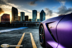 Stingray from the door out in HDR (RoryMad Studios) Tags: night tampa photography purple florida stingray wrap corvette hdr vette c7 carsinhdr rorymadstudios