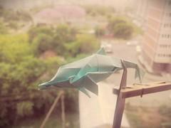 Dolphin (dwarvens.rage) Tags: paper origami dolphin kawahata fumiaki