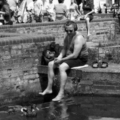 Cambridge - by the river (Trojan_Llama) Tags: street cambridge people 120 6x6 film analog mediumformat river square photography candid cam creative bronica 200 sqa foma fomapan r09 bwmonochrome 150mmf4ps