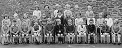 What did you say? (theirhistory) Tags: uk school girls england boys shirt children photo twins shoes dress chairs sandals class jacket junior gb jumper wellies primary
