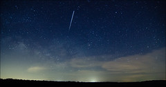 ISS Over Scorpius (sdmacdonald) Tags: longexposure sky night dark landscape timelapse nikon space wideangle tokina astrophotography spacestation astronomy iss milkyway scorpius