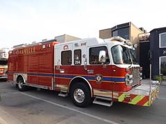 Oakville, ON Fire (car show buff1) Tags: rescue fire chief platform ladder incident command commander oakville hazmat spartan dept 232 ambulances demers on battalion smeal responding