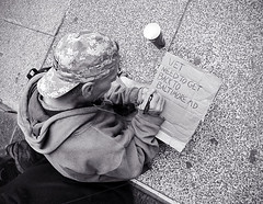 Ritchie (Charlie O'Hay) Tags: poverty bw philadelphia centercity homeless philly rittenhousesquare veteran panhandling homelessness everyonehasaname