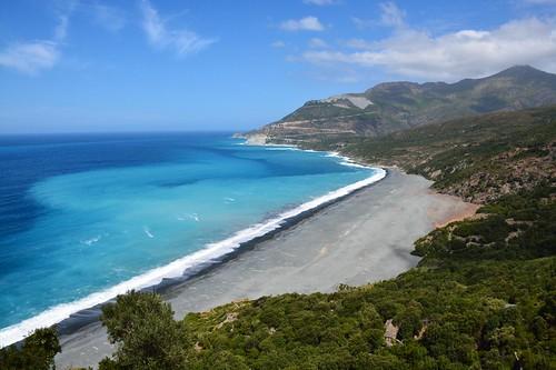 Shore at Nonza at Cap Corse (Corsica, France 2014)