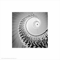 Queen's House, Greenwich (Andrew James Howe) Tags: blackandwhite architecture stairs buildings mono curves greenwich nationalmaritimemuseum andrewhowe queenshousegreenwich