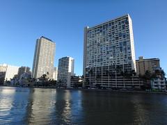 Ala Wai Canal and Condos (Eric Broder Van Dyke) Tags: summer canal oahu ala wai condos 2014