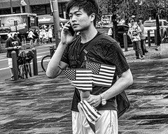 Philadelphia, 2014 (Alan Barr) Tags: street people blackandwhite bw philadelphia monochrome mono blackwhite candid streetphotography olympus sp streetphoto omd 2014 em5