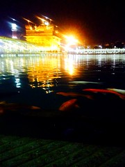Golden temple !! (rick_toor) Tags: night reflections lights punjab amritsar goldentemple fishs greatplace sarowar iphonephotography thegoldentemple ricktoor