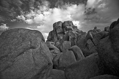 Joshua Tree Rocks BW (Dale Hameister) Tags: california ca desert joshuatree joshuatreenationalpark jtnp