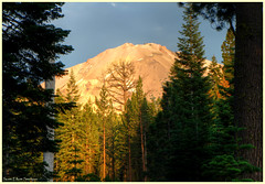 Lassen Peak at the Golden Hour from our Campsite (ScottElliottSmithson) Tags: california sunset nature northerncalifornia forest canon landscape eos nationalpark woods scenery surreal sunsets cascades 7d nationalparks goldenhour cascademountains cascaderange lassenvolcanicnationalpark usnationalparks lassenpeak eos7d dtwpuck scottsmithson scottelliottsmithson