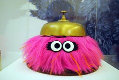 Isabel from the Furchester Hotel (zawtowers) Tags: history classic television kids one hotel tv bell muppets archive exhibition we ring made reception bbc childrens isabel characters salford iconic lowry heres earlier furchester