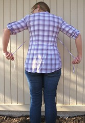 Plaid-Back Tee - Before (nosmallfeet) Tags: sewing shirts refashions