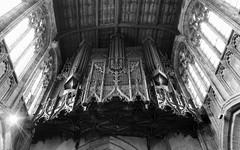 stratford-1-250714 (Snowpetrel Photography) Tags: blackandwhite music monochrome churches warwickshire stratforduponavon organs churcharchitecture churchinteriors churchfurniture pentaxmx1