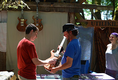 Hudge Guitars-John & Marcia (Eugene Jean) Tags: guitars eugene ocf oregoncountryfair hudge booth398 ocf2014