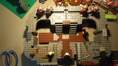 inside Castra duglisia. (The Cudgegong) Tags: lego fort csatles castra soldiers history blocks