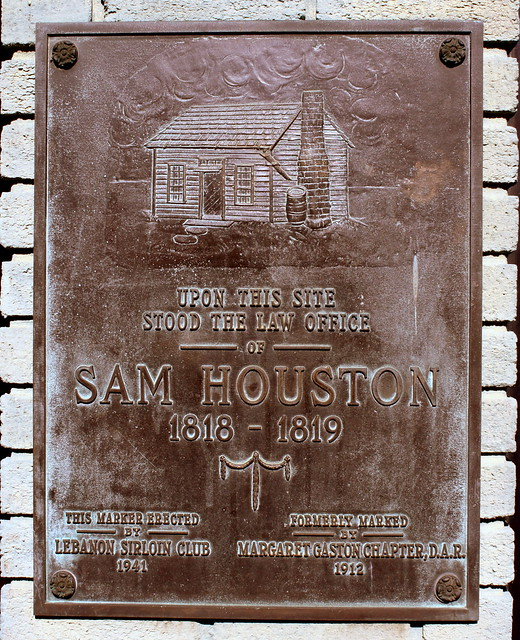 Site of Sam Houston's Law Office