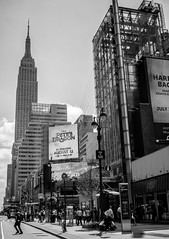 Empire State Building (hosam alshanawany) Tags: b buildings bw blackandwhite blackwhite empirestatebuilding newyorkcity newyork new nyc nikon nikkor manhattan photography lightroom lr architecture streetphotography street stripes d5500 ny outdoor supershot usa us