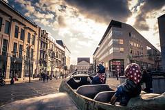 """""""Le soleil vous donne des ailes"""" (Gilderic Photography) Tags: liege belgium belgique belgie tchantches statue scupture sky ciel city canon g7x gilderic architecture"""