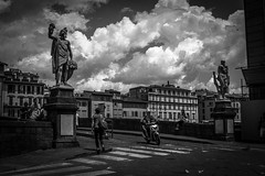 L1228887 (Bruno Meyer Photography) Tags: firenze toscana visitfirenze visittuscany italia italy iloveitalia ponte pontesantatrinita travel travelphotography roadtrip skyline architecture statues streetphotography street clouds blackandwhite bw blackandwhitephotography leica leicaimages leicacamera leicacamerafrance leicadlux5 photography raw edit archives 2014