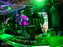 Monaco International Clubbing Show (Dan Fegent) Tags: monsterenergy girls women flames flame show monaco monacointernationalclubbingshow mics event indoors canon1dx fullframe eos fun cool bar drinks alcohol sexy fisheye sigma 15mmf28