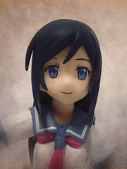 Ayase Portrait in Oils (Sasha's Lab) Tags: ayase aragaki 新垣 あやせ high school uniform oreimo girl teen fuku figma action figure gsc jfigure toy portrait oil painting muted soft photofunia