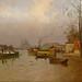SENECHAL DE KERDEORET (le) Edouard,1896 - Crue de la Seine aux abords du Canal St-Martin (Carnavalet) - 0