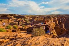 IMG_8261 (ghostbaum) Tags: tourists horseshoebend horseshoe bend lookout cliff deaths death sunset arizona