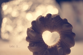 Love is.... a heart between a cookie _ HMM
