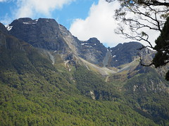 View from Mirror Lakes, The Milford Road, Te Anau to Mirror Lakes SH94 New Zealand (Kalpesh Patel.) Tags: mirrorlakes themilfordroad teanau newzealand natural outstanding beauty mirror refelction serence scenic landscape lake water mountain tree fauna flora blue sky cloud symmetry nationalpark southisland serene peace surreal divine huge massive epic wildlife