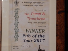 P and T (deltrems) Tags: pumpandtruncheon pump truncheon blackpool lancashire fylde coast pub bar hotel hostelry house restaurant inn tavern camra certificate year poty wyre bfw campaign real ale