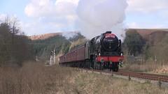 LMS No.46100 'Royal Scot' southbound departing Levisham [NYMR]  on 2nd April 2017 (soberhill) Tags: northyorkshiremoorsrailway nymr lms 46100 royalscot grosmont pickering railway steam train locomotive levisham 2017