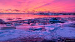 Magical colours after the winter sunset (Olli_Pihlajamaa) Tags: sunset twilight auringonlasku taivas sky colours sea meri ranta värit ice winter jää talvi inkoo kopparnäs finland bluehour sininenhetki