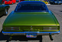 Green Bird (oybay©) Tags: pontiac pontiacfirebird firebird car auto automobile classiccar green blue bluesky clouds cloud angle unusual collectable rare lookingup chrome color colors colour barrettjackson scottsdale arizona vin1 convertible unique polished bright vivid orange