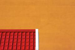 Red roof and orange wall (Jan van der Wolf) Tags: map169145vvv wall muur composition compositie orange oranje red rood redrule minimalism minimalistic minimalisme minimal facade dak dakpannen roof gebouw tiles