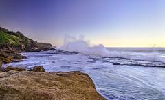 Evening has broken (Rakuli) Tags: ifttt 500px sea sunset water ocean rock waves foam breaking headlands